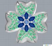 joyería de flores modelo 3d