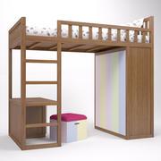 Etagenbett Kind 3d model