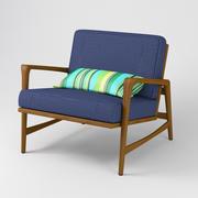 Duński Fotel Teak w stylu Mid Century Sessel 3d model