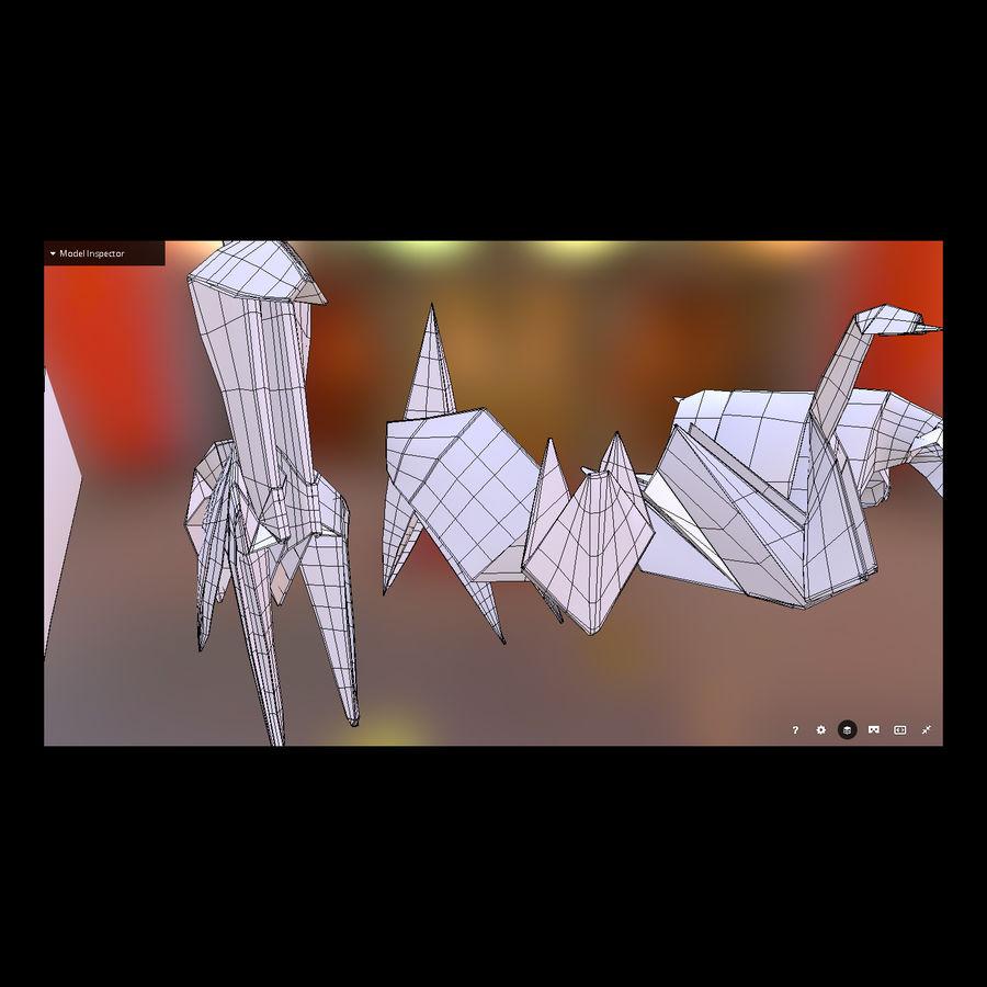 Zestaw prawdziwych zwierząt Origami royalty-free 3d model - Preview no. 2