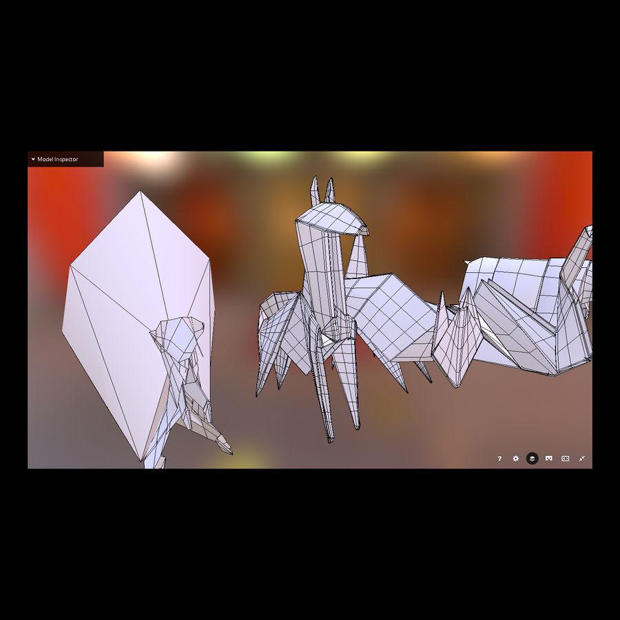Zestaw prawdziwych zwierząt Origami royalty-free 3d model - Preview no. 4