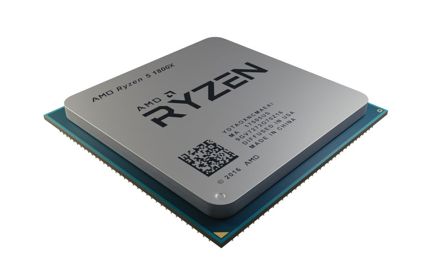 Processeur AMD Ryzen royalty-free 3d model - Preview no. 1