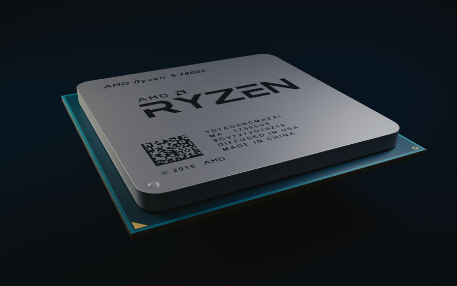 Processeur AMD Ryzen royalty-free 3d model - Preview no. 5