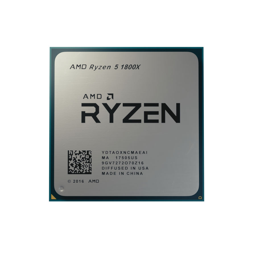 Processeur AMD Ryzen royalty-free 3d model - Preview no. 3