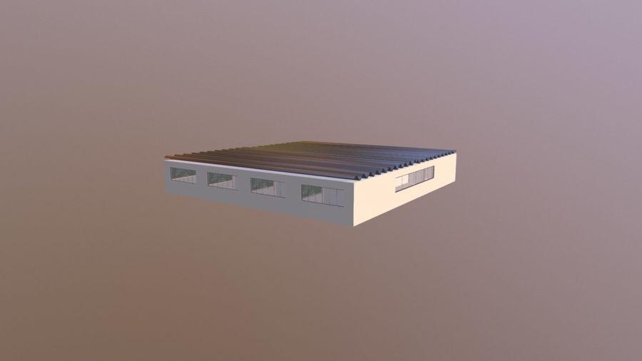 Skolmiljö med interna och externa royalty-free 3d model - Preview no. 3