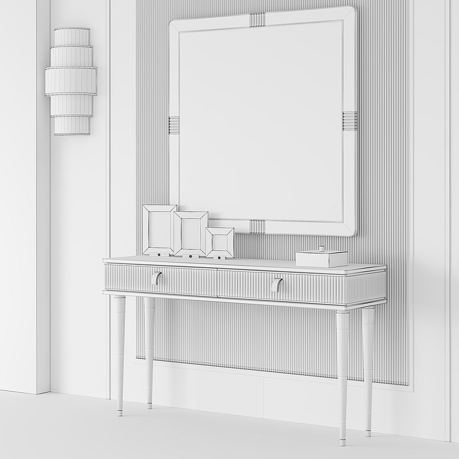 Cipriani Homood Cocoon Console royalty-free 3d model - Preview no. 5