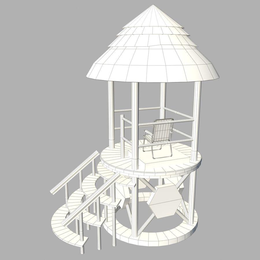救生塔 royalty-free 3d model - Preview no. 16