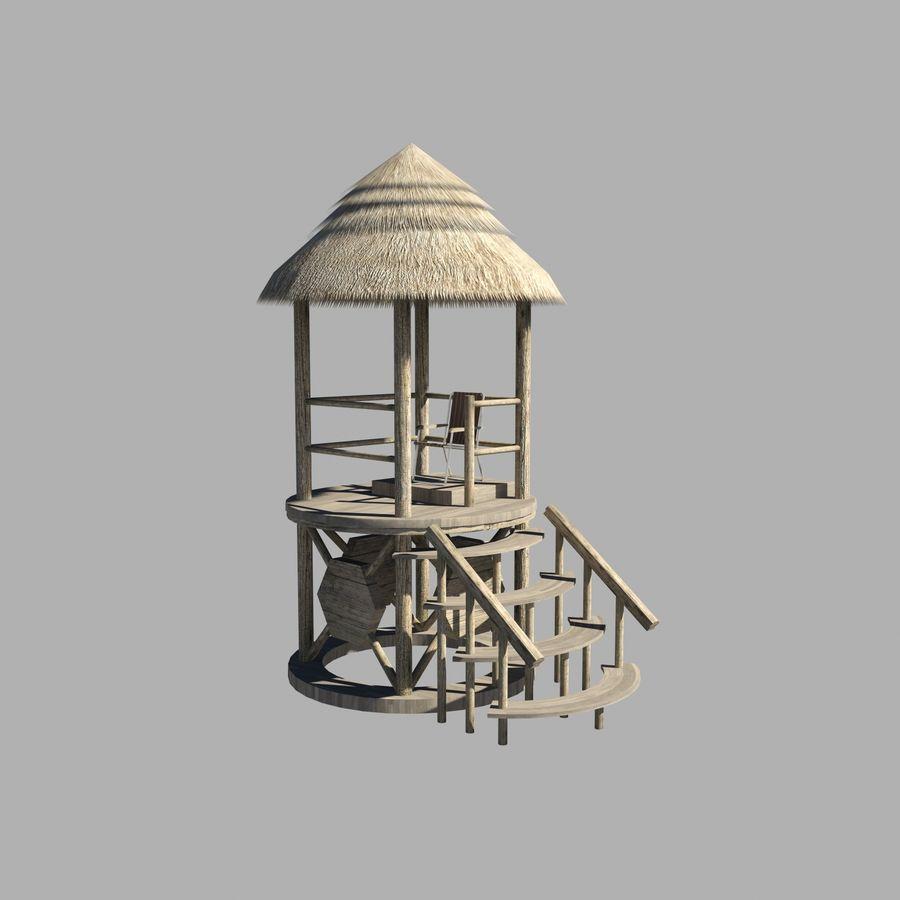 救生塔 royalty-free 3d model - Preview no. 9