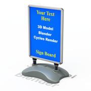 Уличная вывеска 3d model