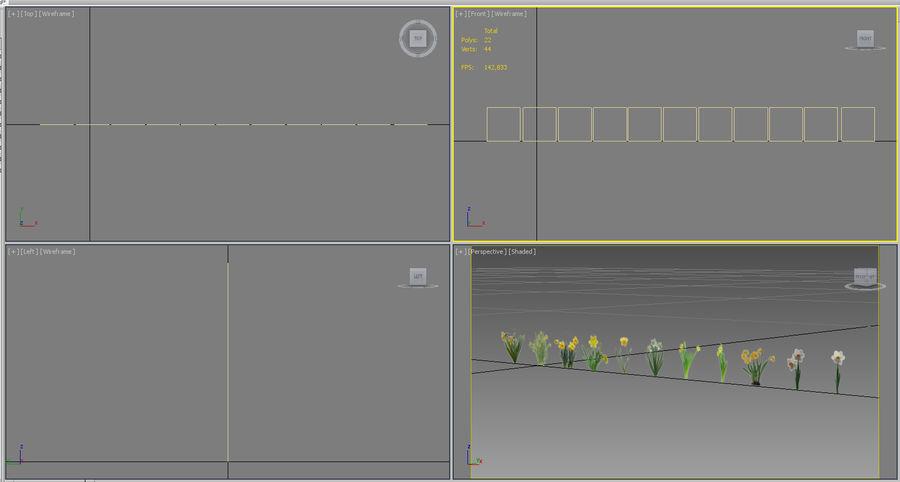 Fleur Narcisse 3D basse polygonale royalty-free 3d model - Preview no. 15