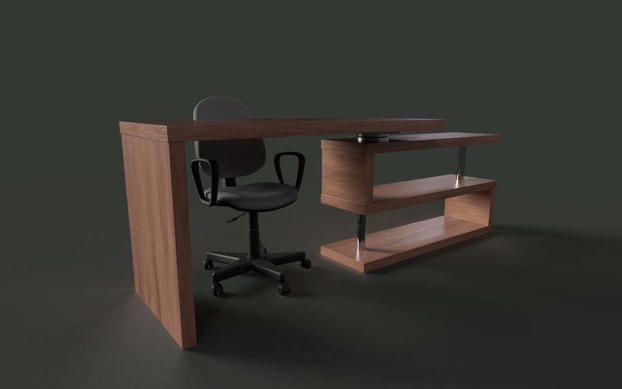 Schreibtisch und Stuhl royalty-free 3d model - Preview no. 1