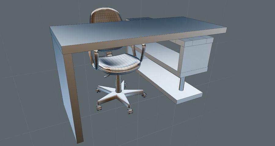 Schreibtisch und Stuhl royalty-free 3d model - Preview no. 6