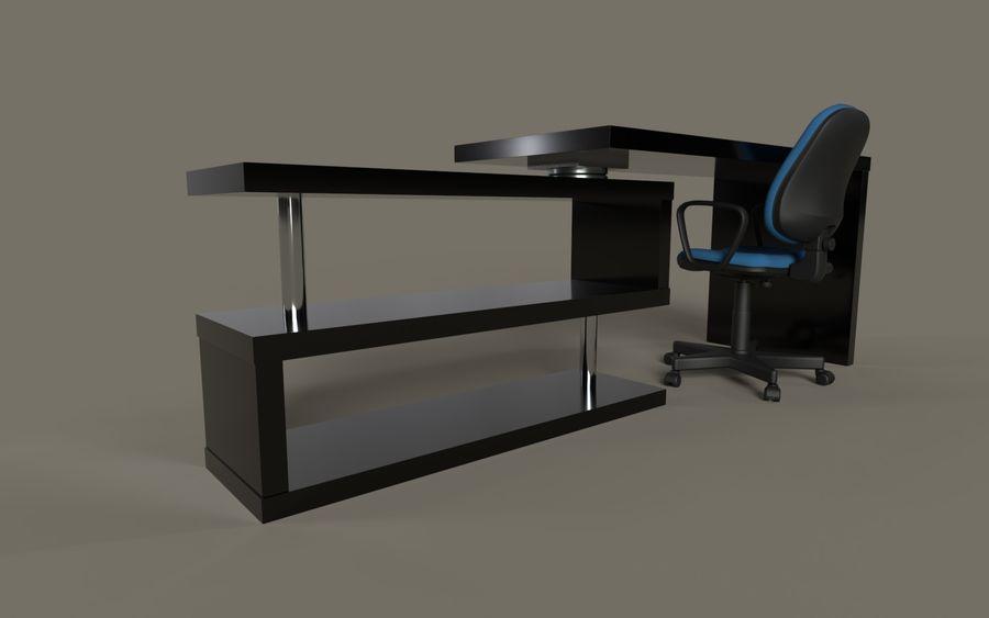 Schreibtisch und Stuhl royalty-free 3d model - Preview no. 4