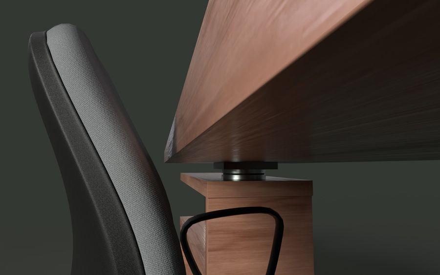 Schreibtisch und Stuhl royalty-free 3d model - Preview no. 2