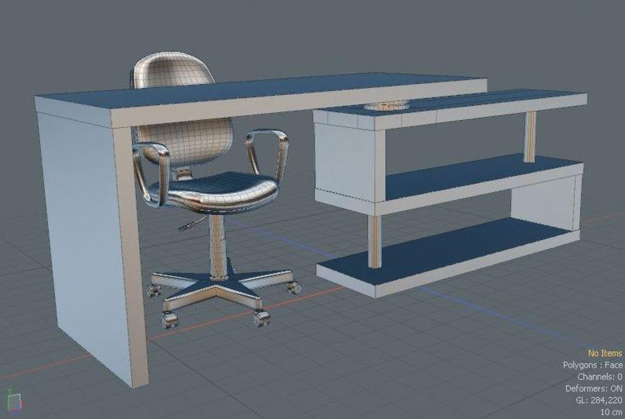 Schreibtisch und Stuhl royalty-free 3d model - Preview no. 5