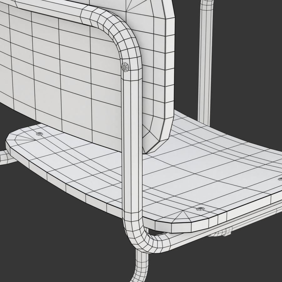 Banco e sedia della scuola royalty-free 3d model - Preview no. 15