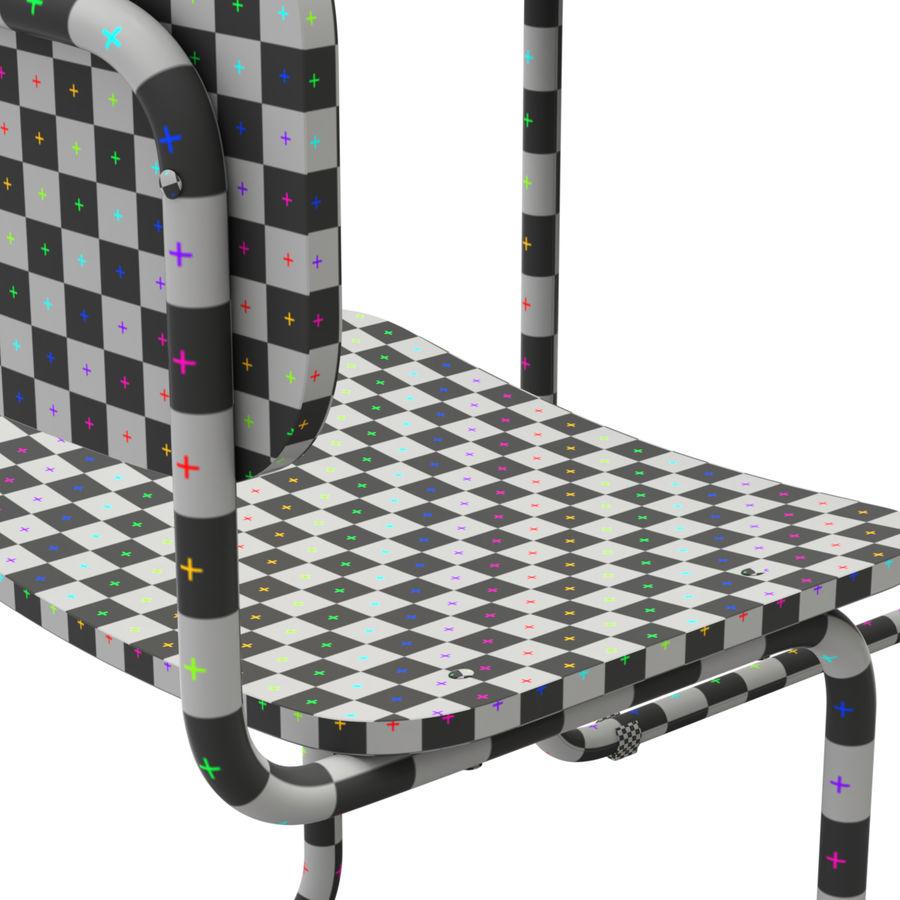 Banco e sedia della scuola royalty-free 3d model - Preview no. 10