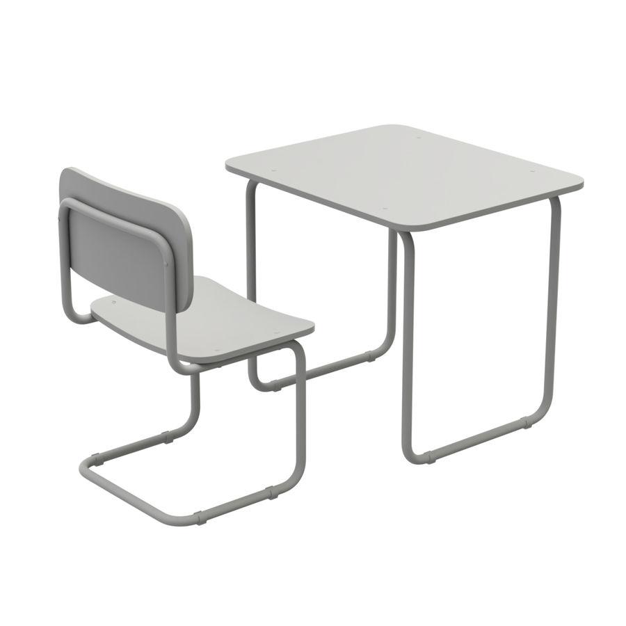 Banco e sedia della scuola royalty-free 3d model - Preview no. 12