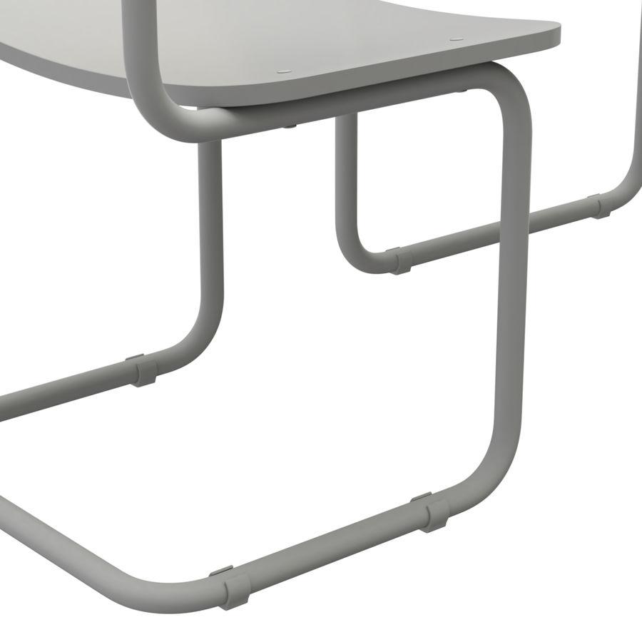 Banco e sedia della scuola royalty-free 3d model - Preview no. 13