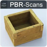 wood box_low 3d model