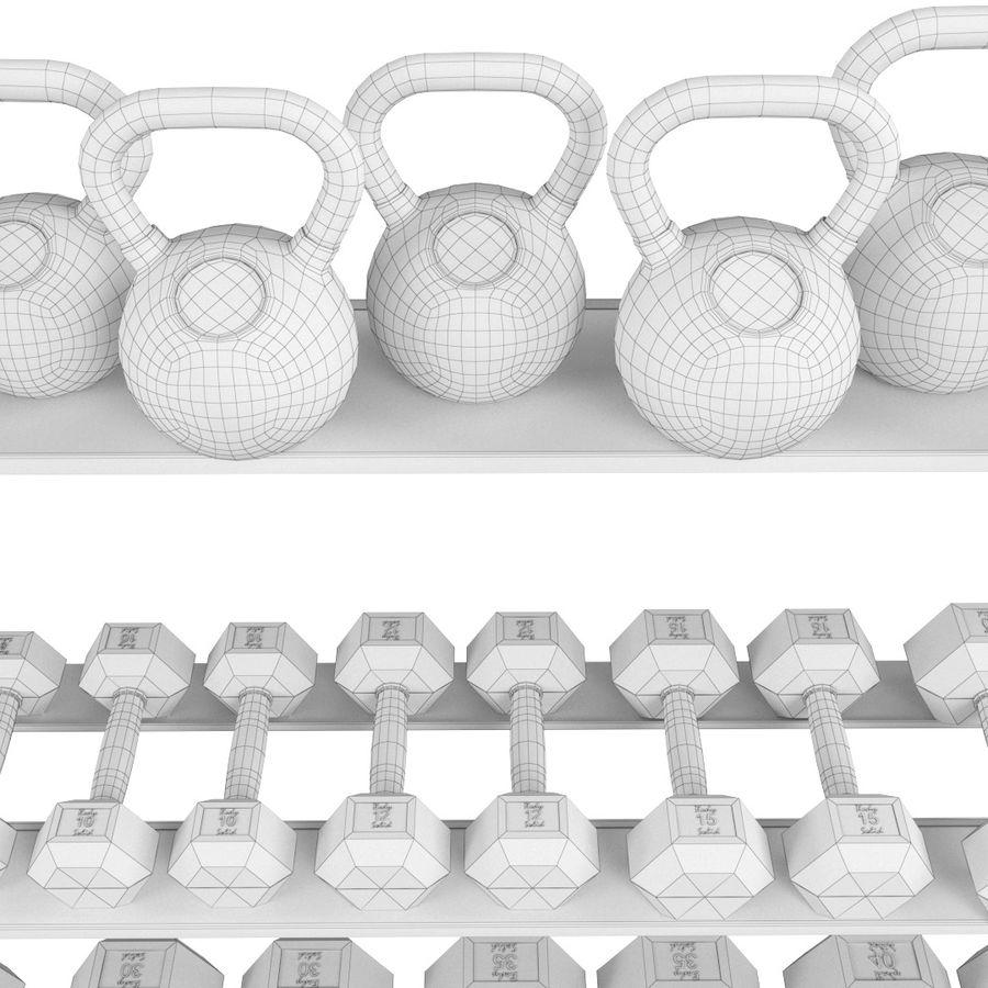 Гимнастический зал для тела Body-Solid royalty-free 3d model - Preview no. 5