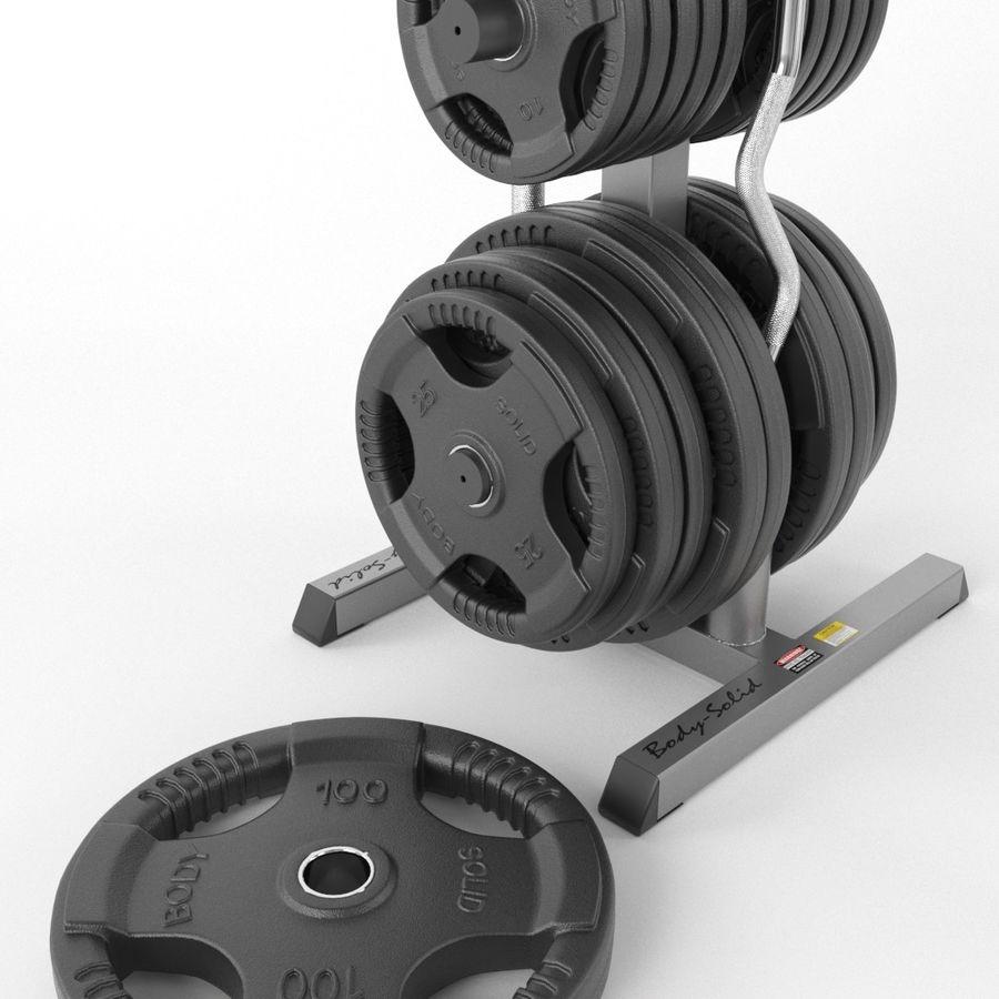 Гимнастический зал для тела Body-Solid royalty-free 3d model - Preview no. 3