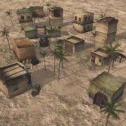 Wüstenaußenposten für Vue 3d model