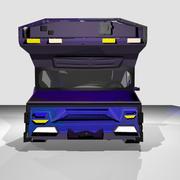 Fantasy Truck + Syfy computer interface 3d model