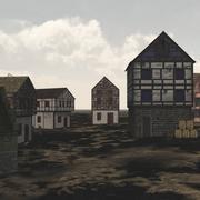 Medieval Village for Vue 3d model