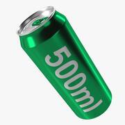 can aluminium 500ml 3d model