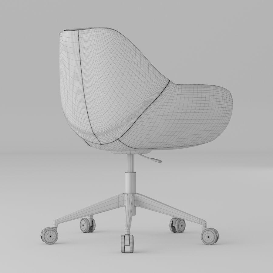 橙色皮革办公椅 royalty-free 3d model - Preview no. 5