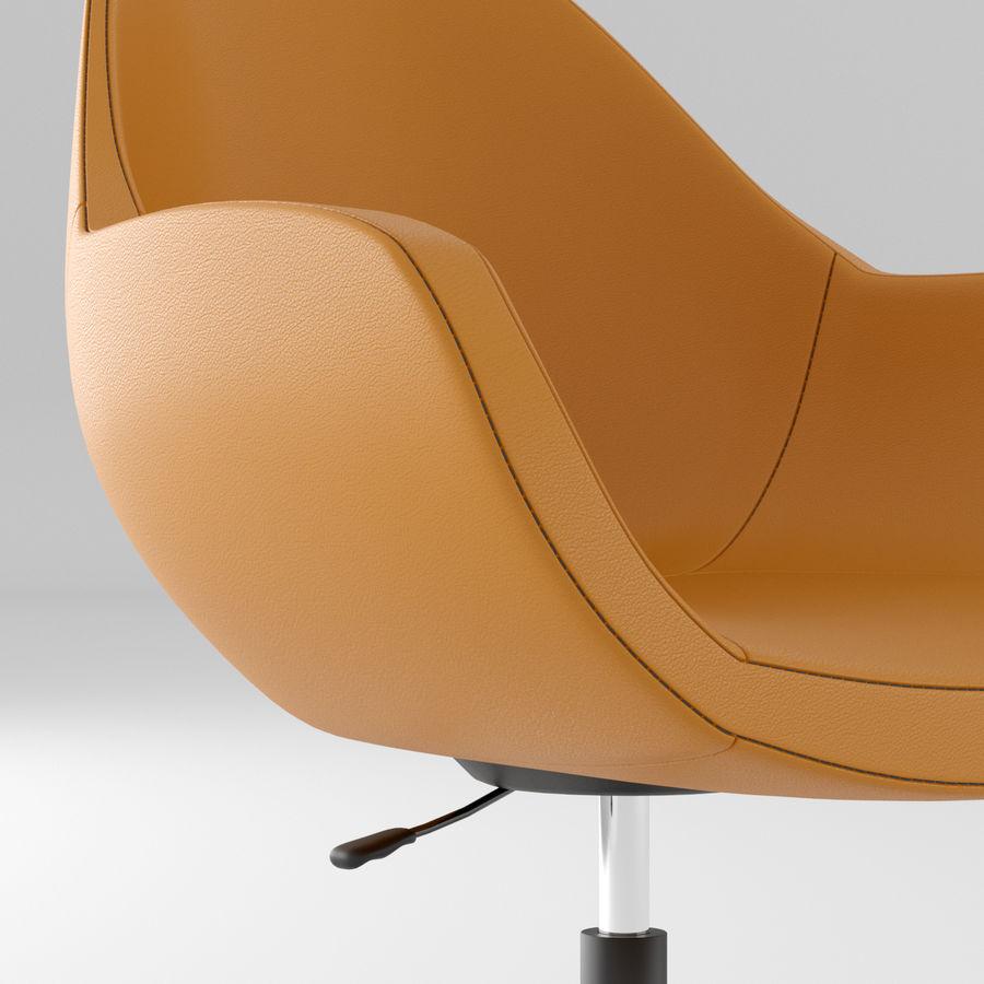 橙色皮革办公椅 royalty-free 3d model - Preview no. 3