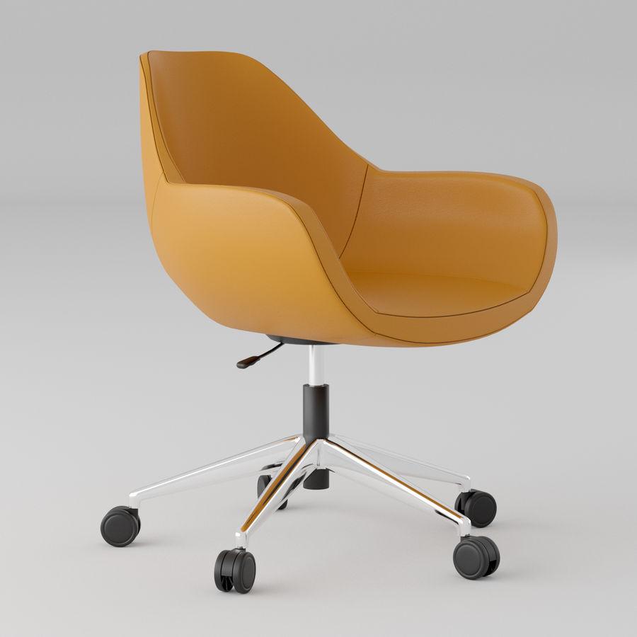 橙色皮革办公椅 royalty-free 3d model - Preview no. 1