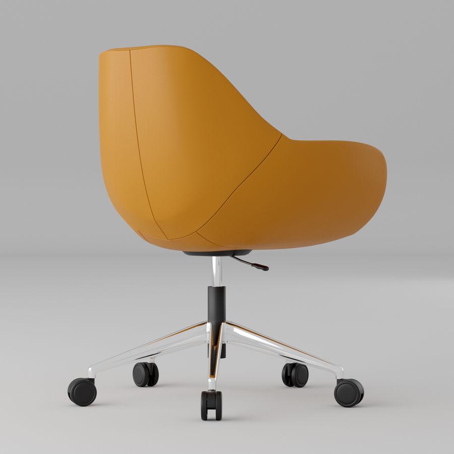 橙色皮革办公椅 royalty-free 3d model - Preview no. 2