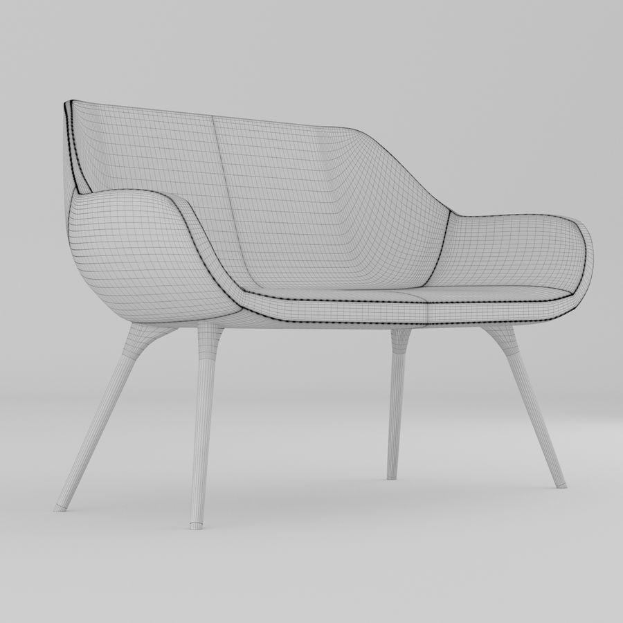 米色办公椅 royalty-free 3d model - Preview no. 5