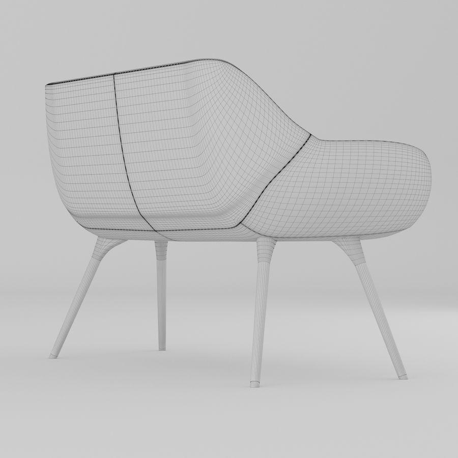 米色办公椅 royalty-free 3d model - Preview no. 6