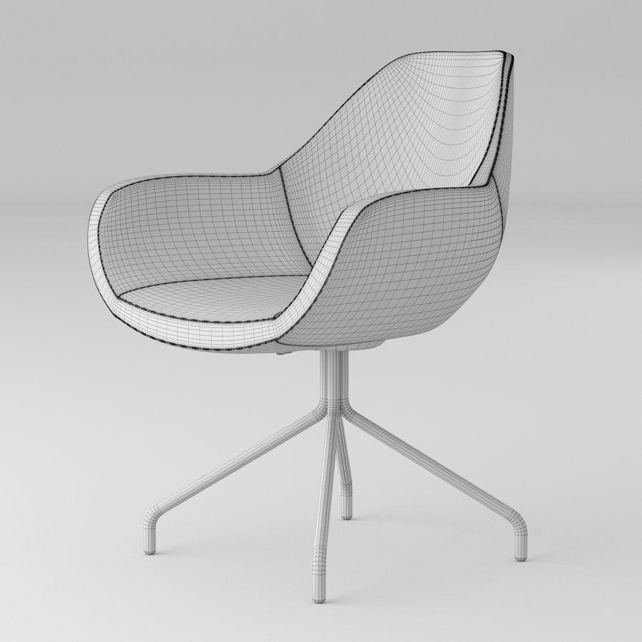黑色办公椅 royalty-free 3d model - Preview no. 4