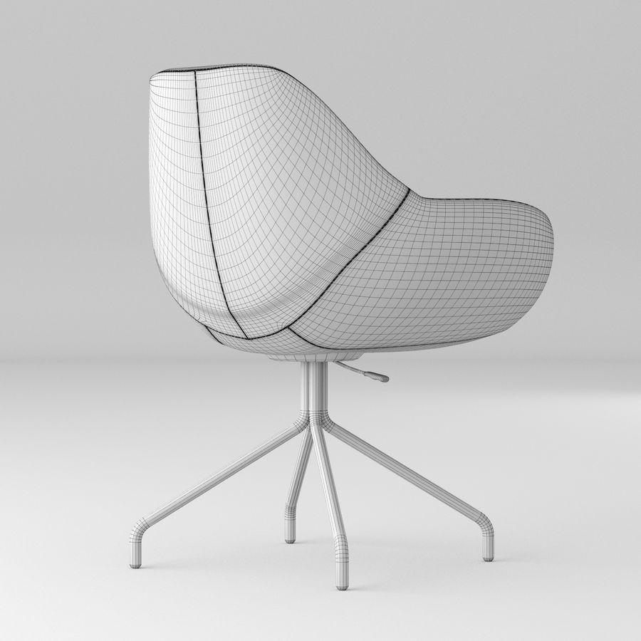 黑色办公椅 royalty-free 3d model - Preview no. 5