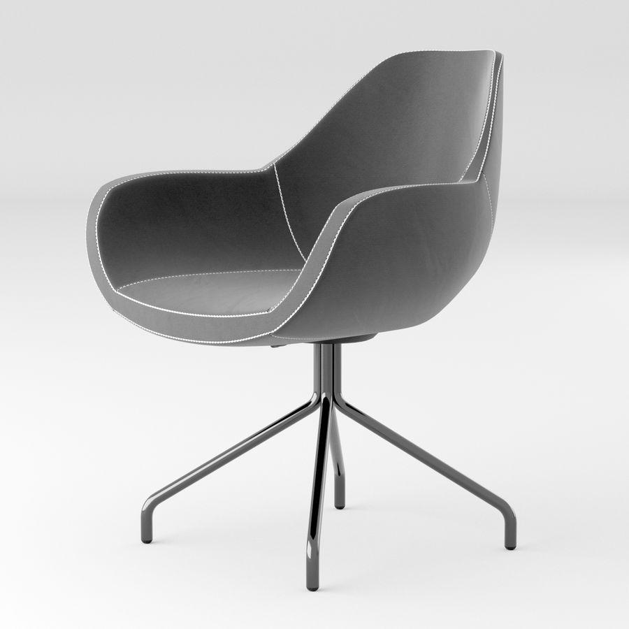 黑色办公椅 royalty-free 3d model - Preview no. 1