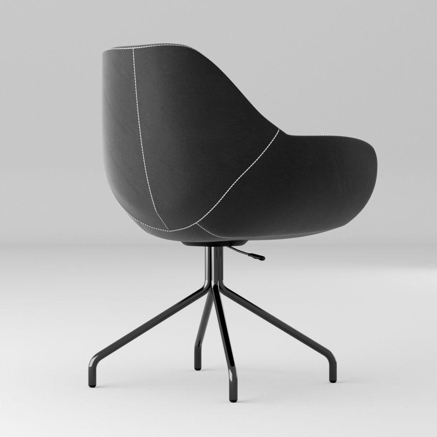黑色办公椅 royalty-free 3d model - Preview no. 2