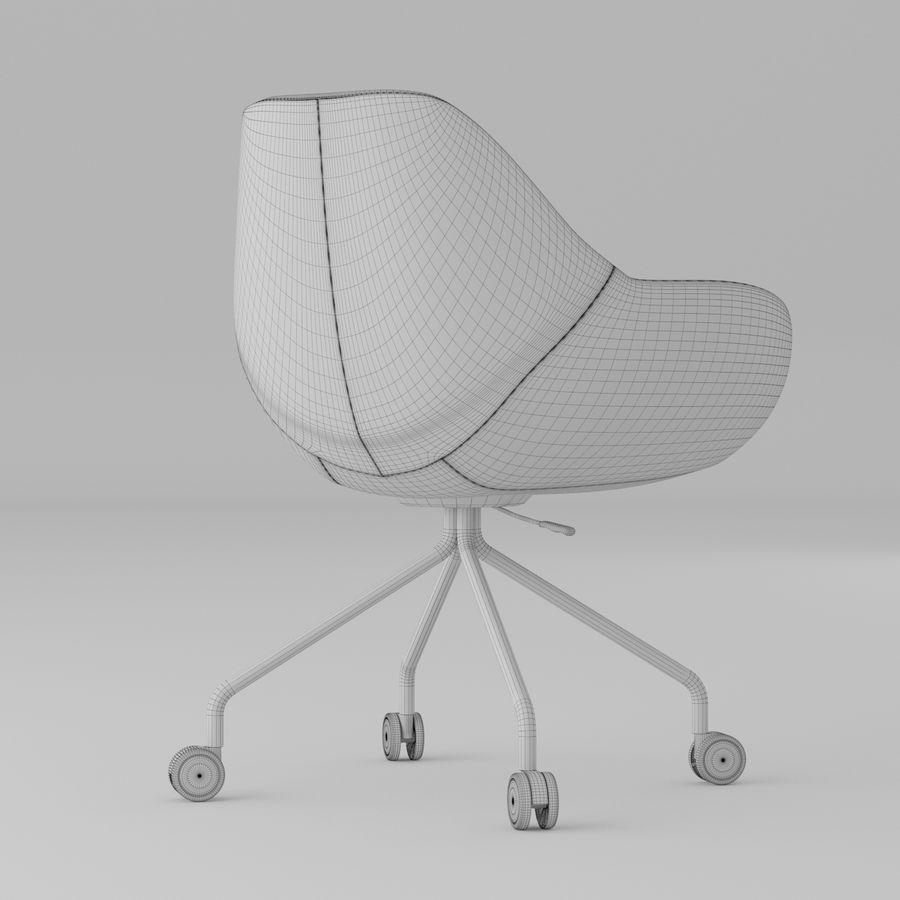 现代黄色皮革办公椅 royalty-free 3d model - Preview no. 5