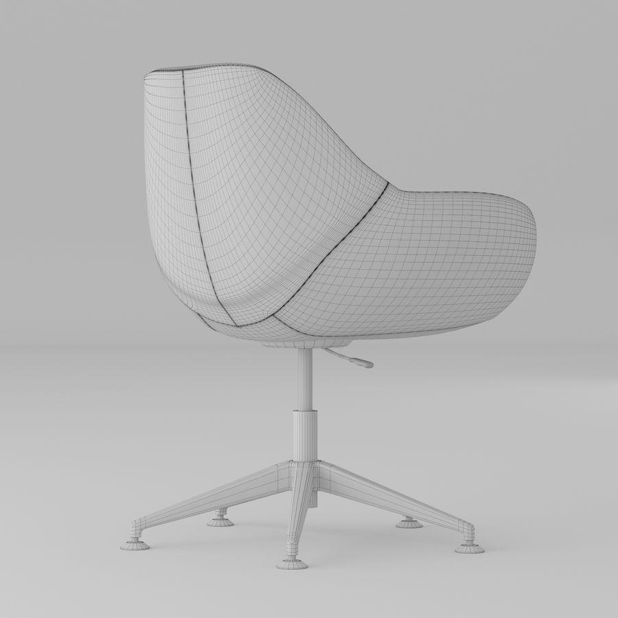 紫色皮革办公椅 royalty-free 3d model - Preview no. 5