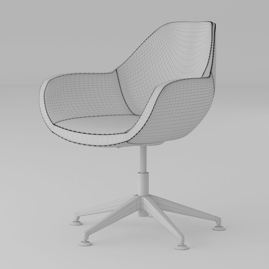 紫色皮革办公椅 royalty-free 3d model - Preview no. 4