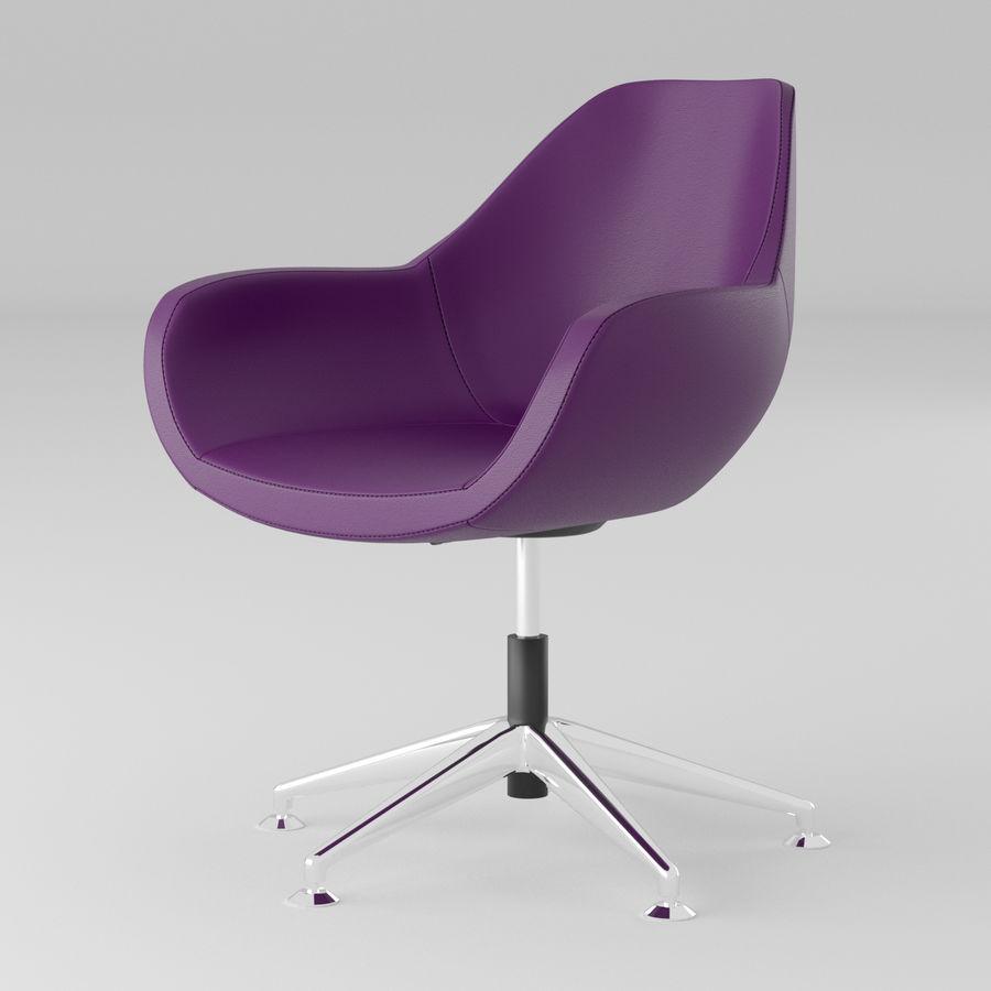 紫色皮革办公椅 royalty-free 3d model - Preview no. 1