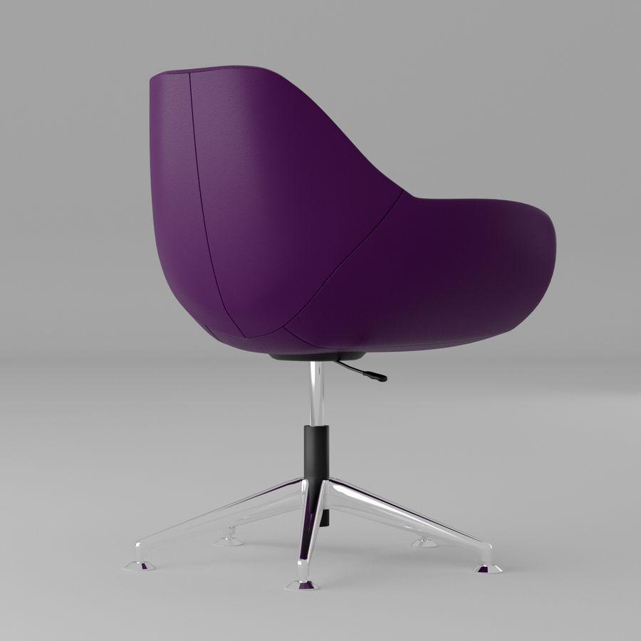 紫色皮革办公椅 royalty-free 3d model - Preview no. 2