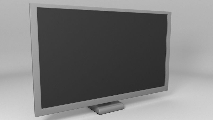 PC-Monitor (Low Poly) royalty-free 3d model - Preview no. 1