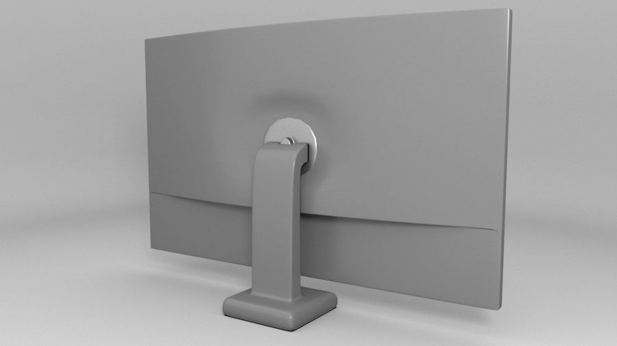 PC-Monitor (Low Poly) royalty-free 3d model - Preview no. 3