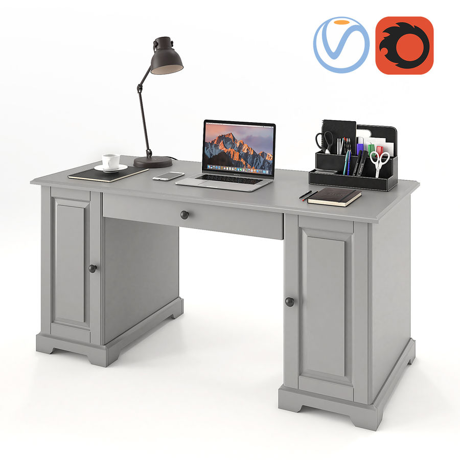 Ikea Liatorp Schreibtisch royalty-free 3d model - Preview no. 1
