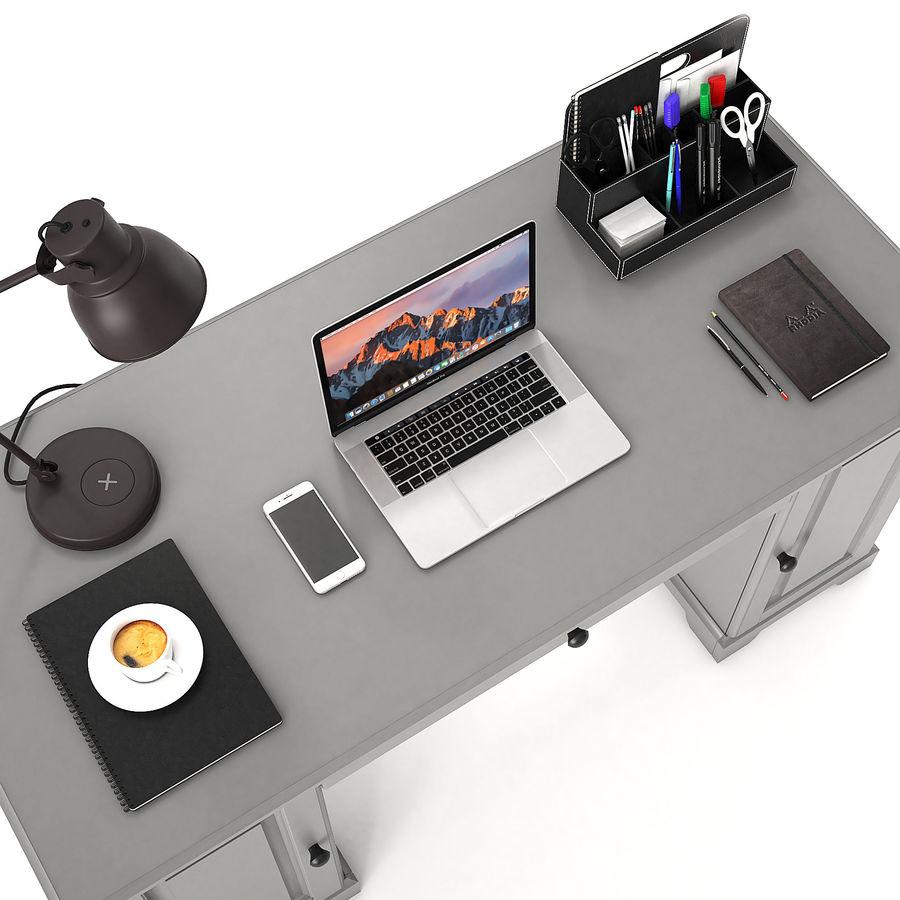 Ikea Liatorp Schreibtisch royalty-free 3d model - Preview no. 3