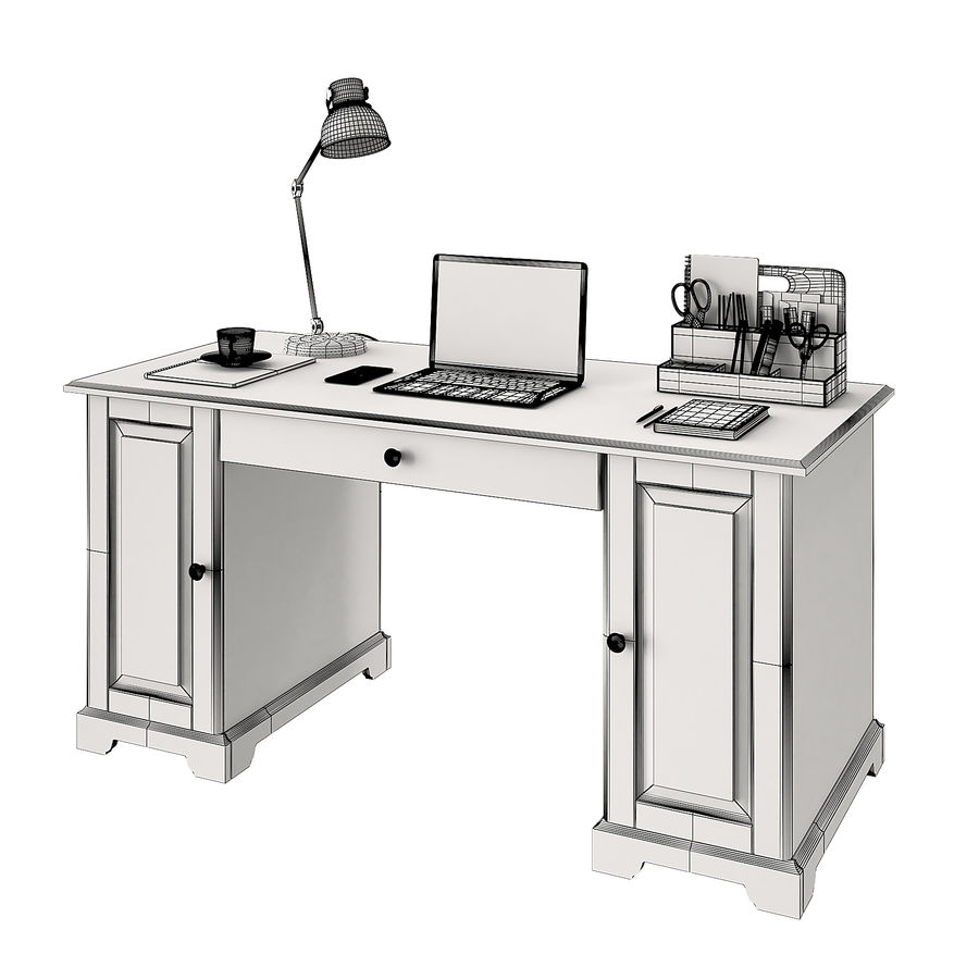 Ikea Liatorp Schreibtisch royalty-free 3d model - Preview no. 4